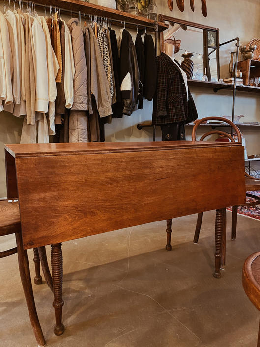 Antique Drop Leaf Dining Table by VintageandSwoon