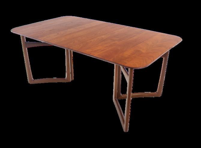 Solid Teak Scandinavain Modern Dining Table Designed by Peter Hvidt