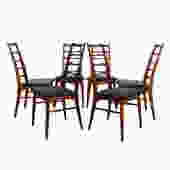 Set of 6 Koefoeds Hornslet Danish Teak Dining Chairs