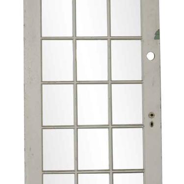 Vintage White 18 Lite French Door 83 x 36