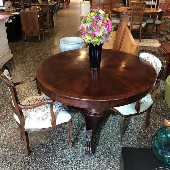 Mahogany tilt top table $350