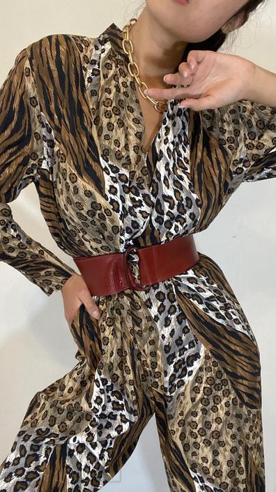 90s wide leather belt / vintage oxblood genuine leather adjustable wide belt / leather D ring buckle belt | XS S M by RecapVintageStudio