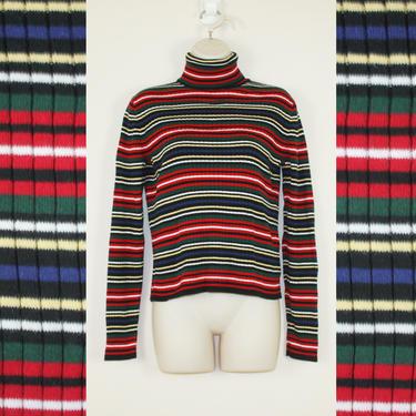 Vintage 90s Stripe Turtleneck by GuavaNectarVintage