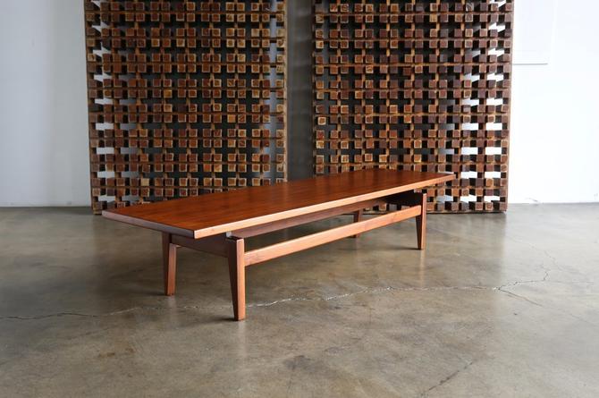 Jens Risom Walnut Bench or Coffee Table, circa 1955