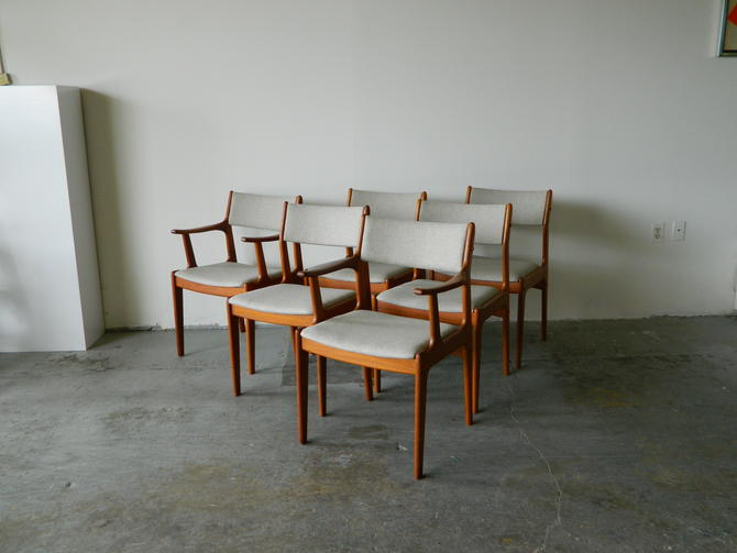 Set of Six Teak D-SCAN Dining Chairs