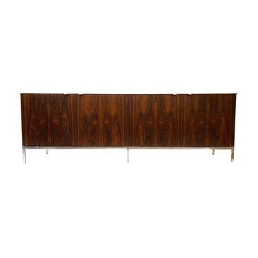 Vintage MCM Rosewood and Marble Credenza by Florence Knoll by minthome