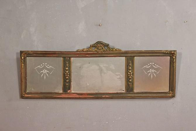 Art Nouveau Triptych Etched Mirror