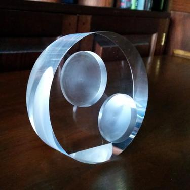 MCM Double Spot Peter Alan Lucite Picture Frame