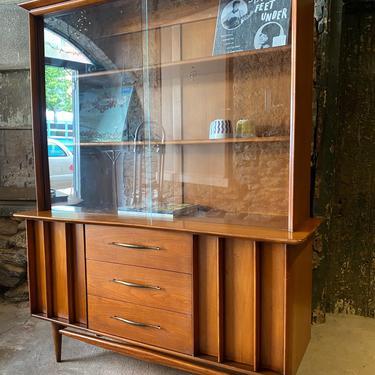 Mid century China cabinet Danish modern curio cabinet mid century bookshelf by VintaDelphia