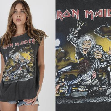 Vintage 1991 Iron Maiden T Shirt No Prayer On The Road Tour Tee 90s Eddie Heavy Metal Rock Band Tank Muscle T Shirt by americanarchive