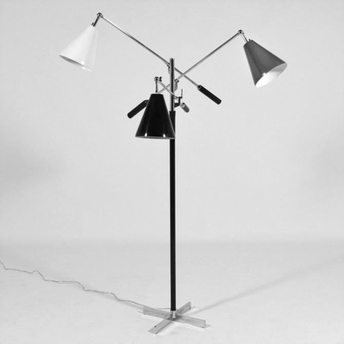 Arredoluce Triennale Three-Arm Floor Lamp