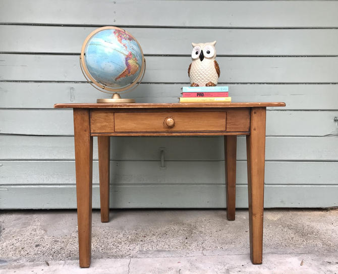 VINTAGE Desk or Table with Drawer (Los Angeles) by HouseCandyLA