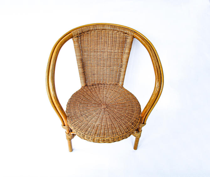 Bohemian Mid-Century Bamboo and Rattan Chair by PortlandRevibe