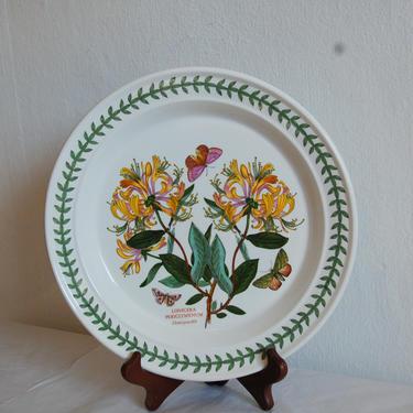 "Vtg Portmeirion Botanic Garden 1818, Susan Williams-Ellis, Honeysuckle, 10.25"" Dinner Plate 1972 ~ Made in England ~ Excellent by YesterdayAndTomorrow"