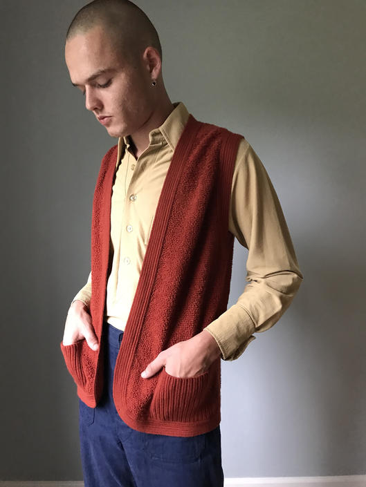 Vintage 70s Rust Sweater Vest by SpeakVintageDC