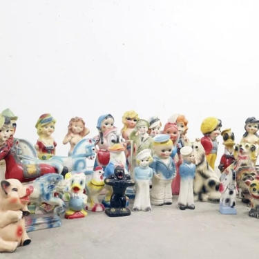 Antique Carnival Chalkware Prizes by coloniaantiques