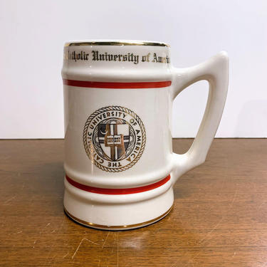 Vintage The Catholic University Beer Stein Mug WC Bunting Pottery by OverTheYearsFinds