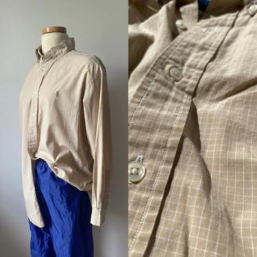 Grid Menswear Button Up by DiscoLaundryVintage