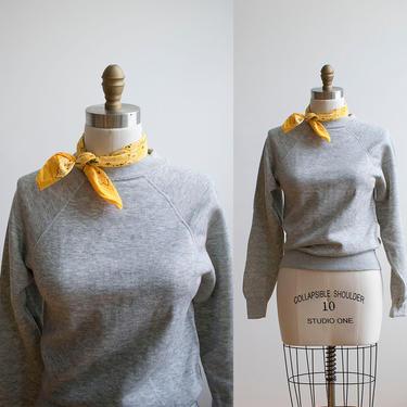 Vintage 1980s Heather Gray Sweatshirt / Vintage Raglan Sweatshirt / Gray Vintage Pullover / Crewneck Sweatshirt / Steinwurtzel Sweatshirt by milkandice