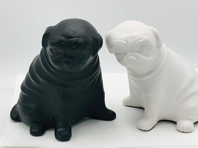 """French Bull  Dog Figurines  Black and White - Bookends Heavy 6"""" by JoAnntiques"""