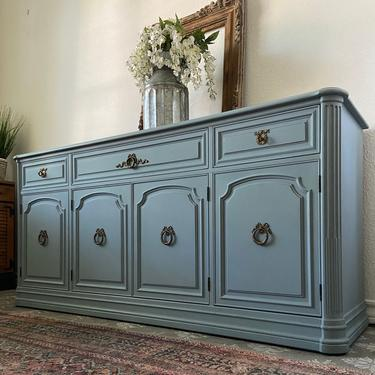 Vintage Buffet Credenza Cabinet Sideboard by Henredon French Regency *Local Pick Up Only by BluePoppyFurniture
