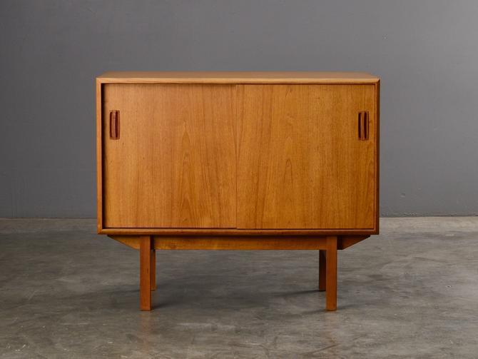 Mid Century Cabinet Credenza Sideboard Teak Danish Modern by MadsenModern