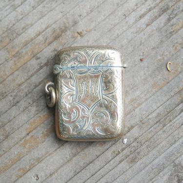 Ornate Sterling John Rose Birmingham 1848 ~ Antique Sterling Silver Birmingham 1848 Vesta Case, Vesta Box, Pocket Match Safe, Matchsafe by YesterdayAndTomorrow