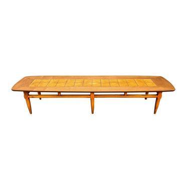 Vintage Mid Century Modern Walnut & Burl Wood Coffee Table by Lane by AymerickModern