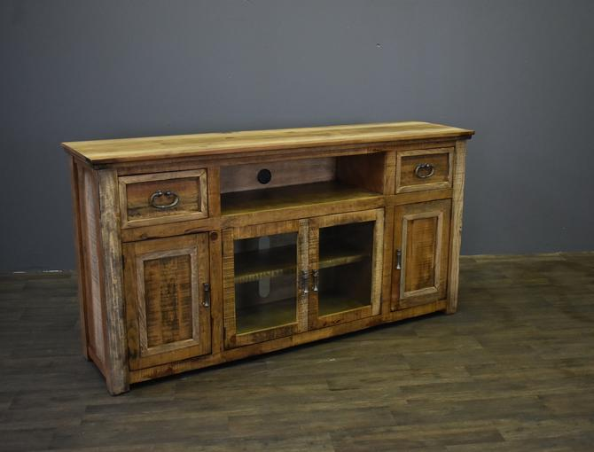 """Rustic Solid Wood 2-Drawer 4-Door 70"""" Media Console / TV Stand by RusticShop1"""