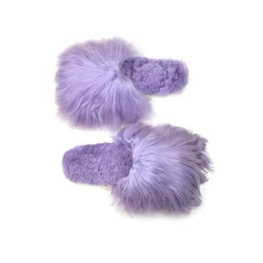 Suri Alpaca Slipper Lavender