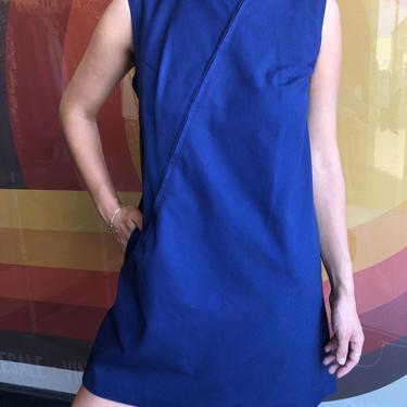 60's Mod Navy Dress by laloupevintage