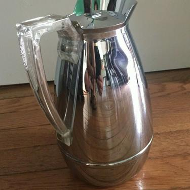 VINTAGE CHROMED STEEL THERMOS PITCHER/CARAFE/COFFEE POT 1950S 2585