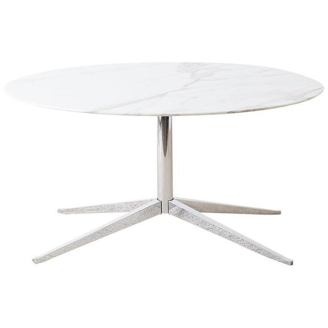 Florence Knoll Marble Dining Table with Star Base by ErinLaneEstate