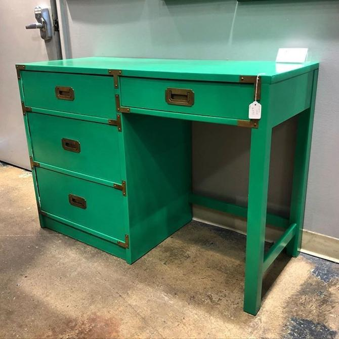 Kelly Green Campaign style Desk!