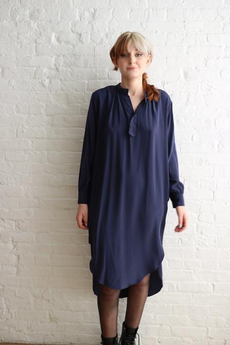 Apiece Apart Silk Shirt Dress, Size 44