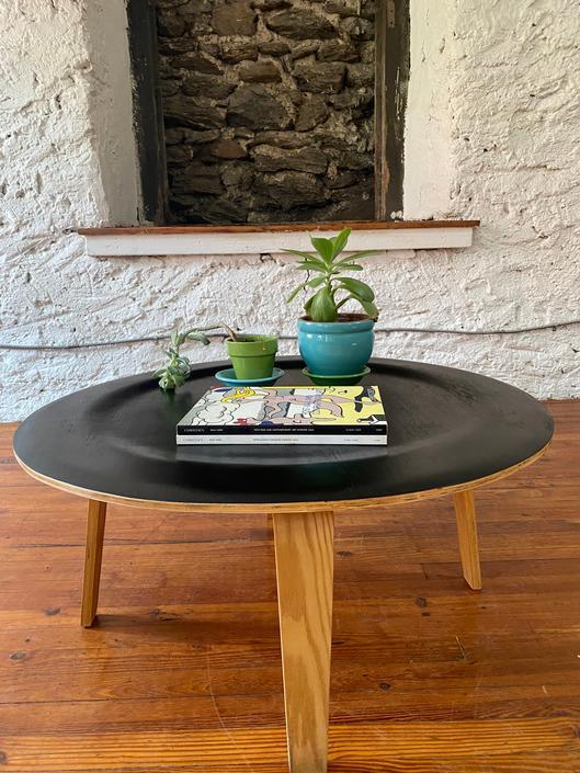 Mid century coffee table Danish modern coffee table mid century circular coffee table by VintaDelphia