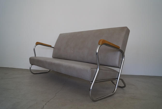 Gorgeous Art Deco / Mid-century Modern Kem Weber Sofa by CyclicFurniture