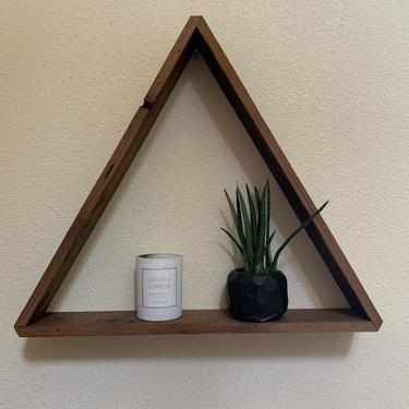 Reclaimed Redwood Triangle Shelves