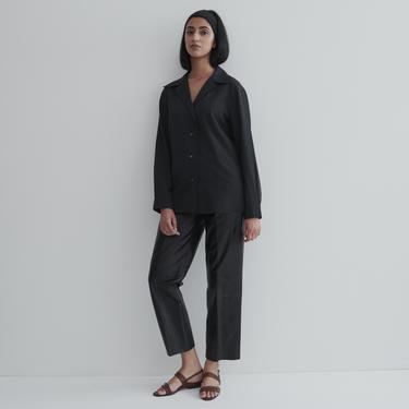 Vintage Hermés Silk Wool Button Down