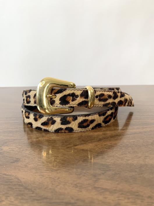 Leopard Calf Hair Belt