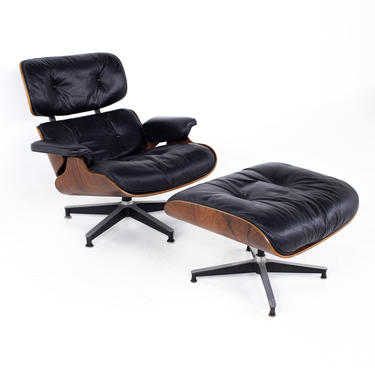 Charles & Ray Eames for Herman Miller Mid Century Rosewood Lounge Chair and Ottoman - mcm by ModernHill