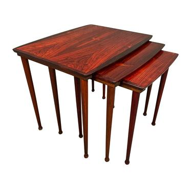 Vintage Danish Mid Century Modern Rosewood Nesting Tables by BC Mobler by AymerickModern