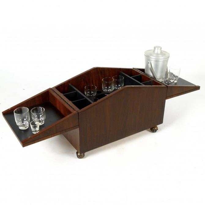 Rosewood Side Table Bar Cart