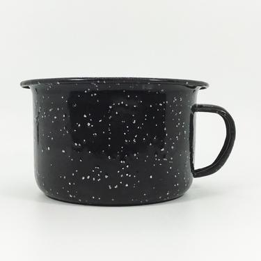 Black Splatterware Enamelware Mug | Camp Mug | Black and White | Vintage Camp | Enamel Coffee Mug | Up North | Cabin Style by PiccadillyPrairie