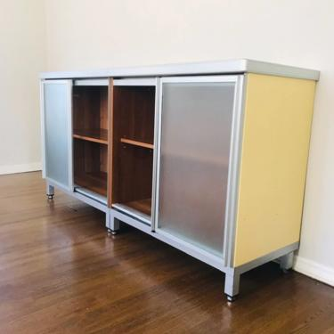 INDUSTRIAL Yellow Storage Cabinet from Cesar Made in Italy #LosAngeles by HouseCandyLA