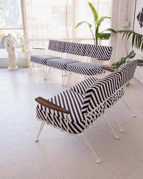 1950's Mid Century Outdoor Set Reupholstered