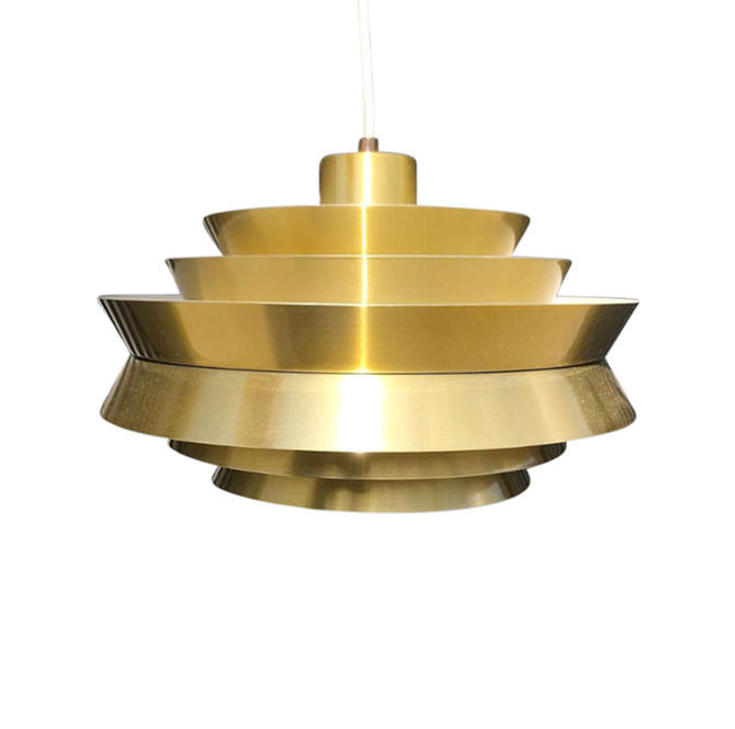 "Vintage Carl Thore ""Trava"" Pendant Light in Brass by MCMSanFrancisco"