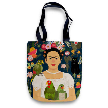 Cheeky Tote Bag – Frida Kahlo and her Parrots