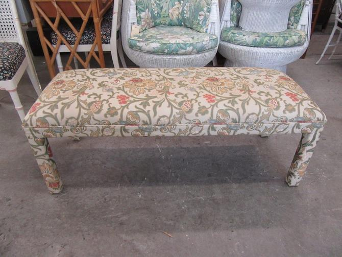 Upholstered Parson Style Bench