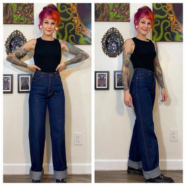 Vintage 1980's Dark Denim Bootcut Jeans by SurrealistVintage